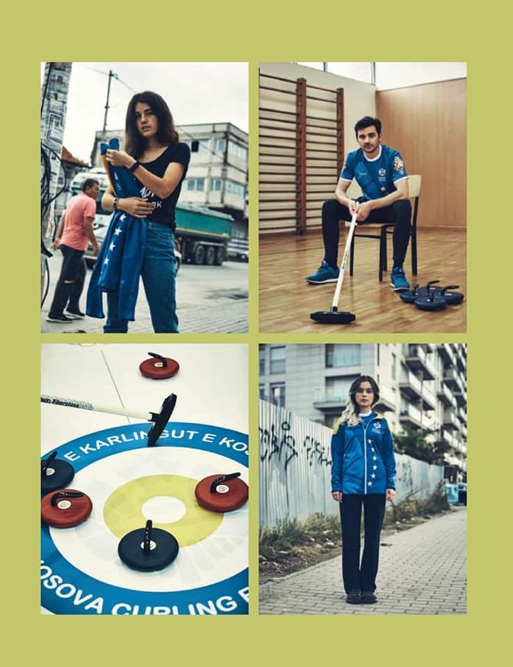 Floor curling article