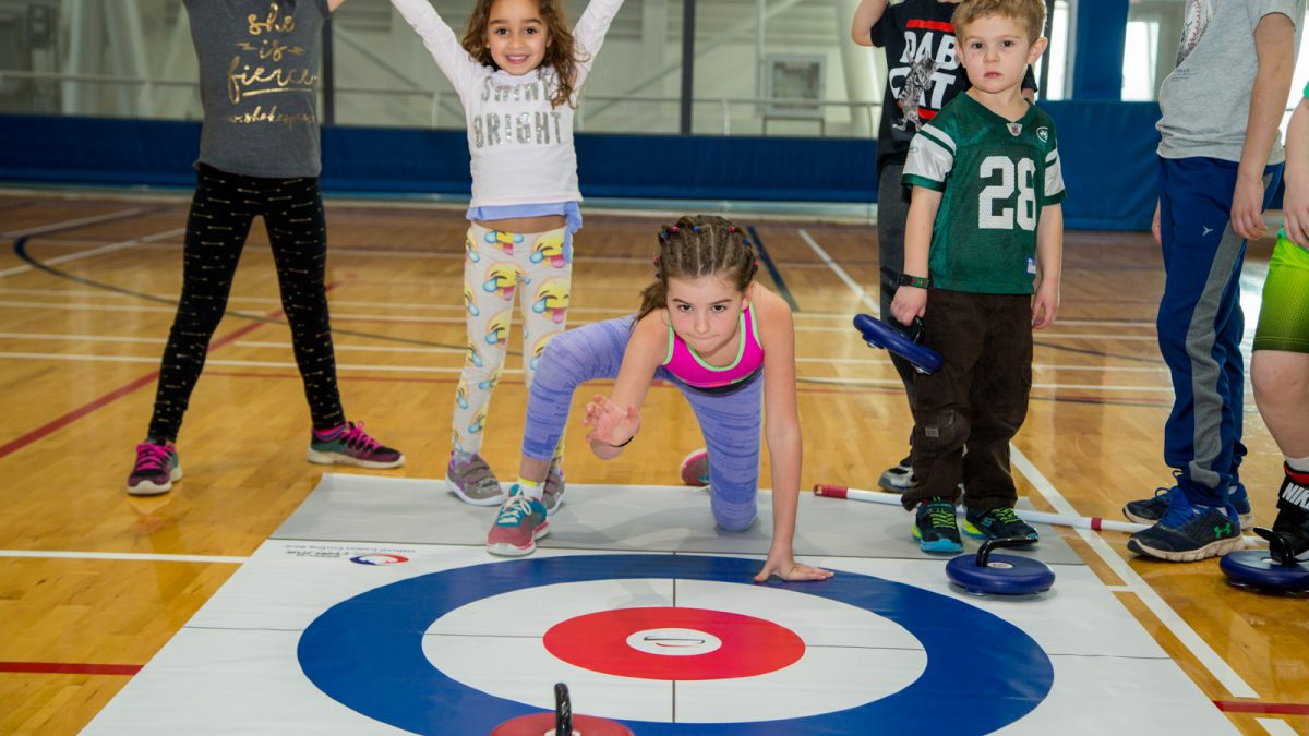 Children playing FloorCurl