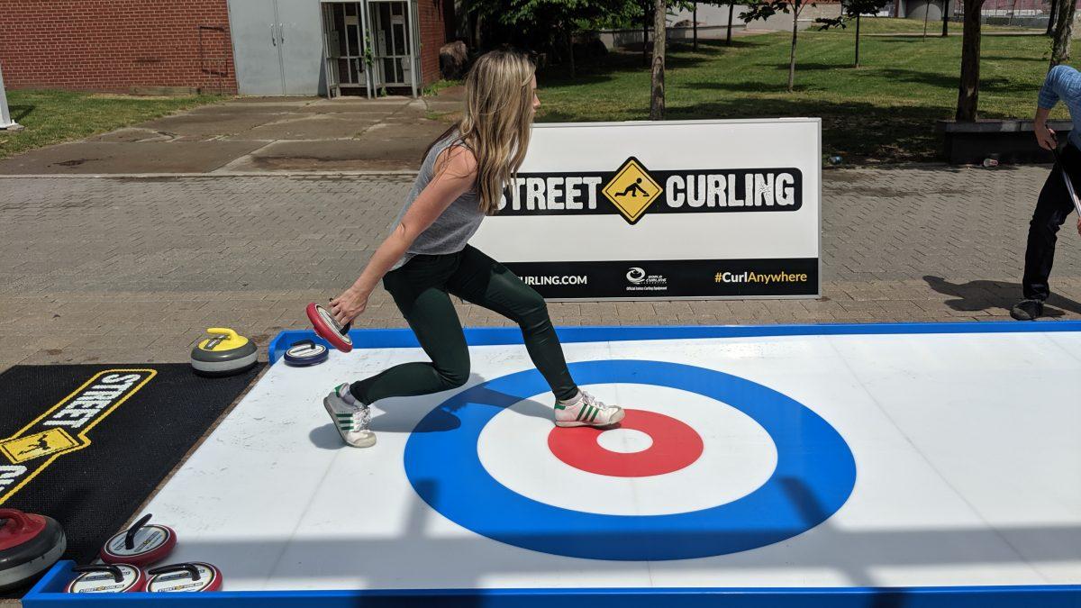 Street Curling Sweeping