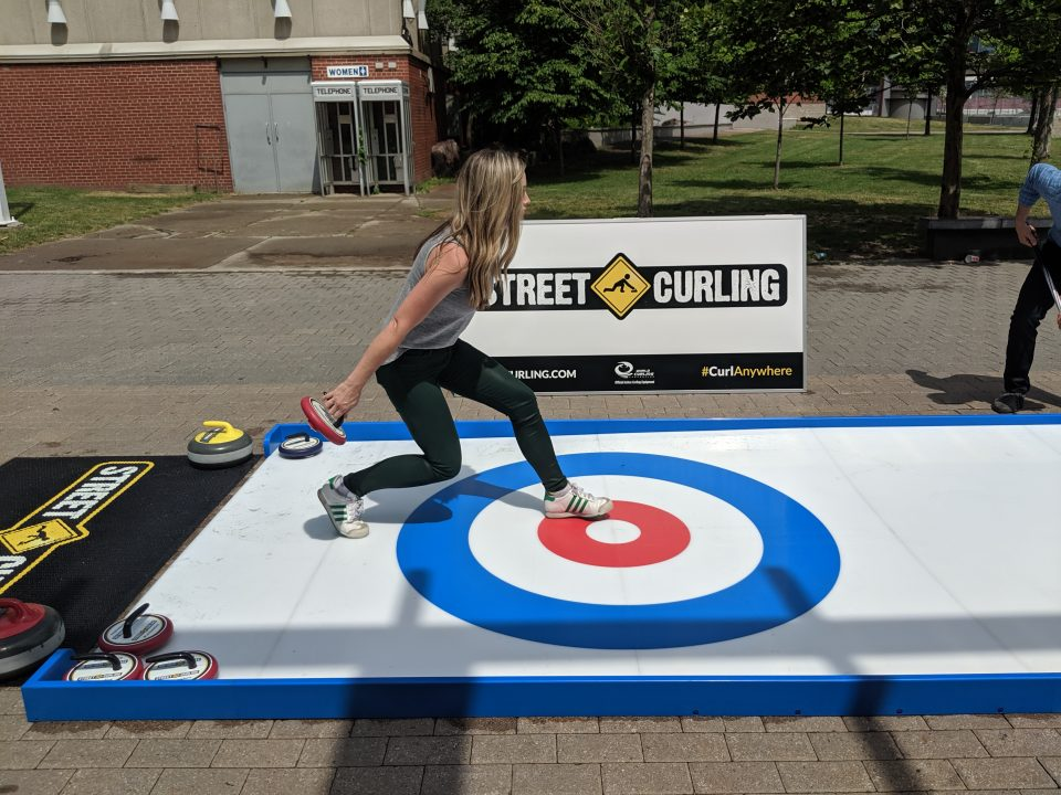 Street Curling Sweeping
